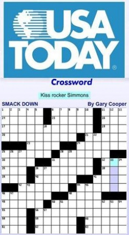 photograph about Usa Today Crossword Puzzle Printable identify Fred Piscop  Web site