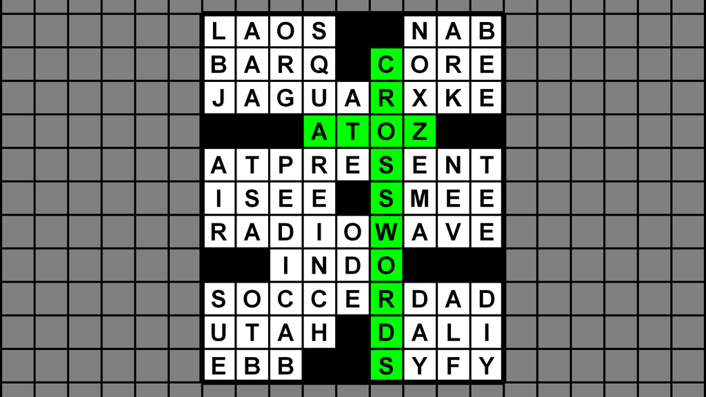atoz crossword