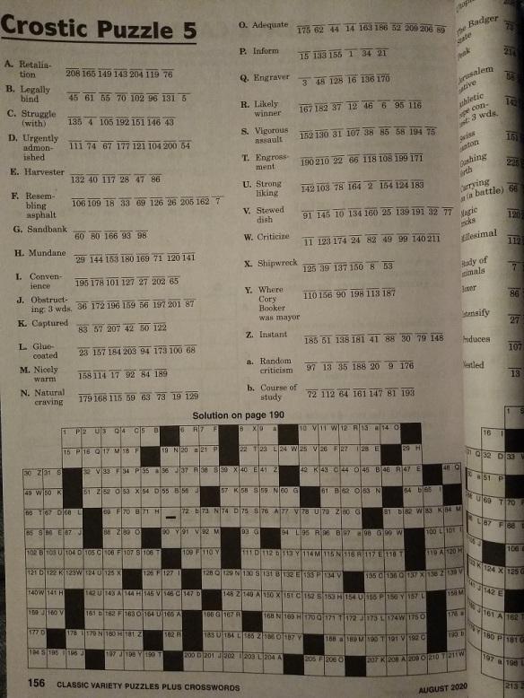 crostic puzzle