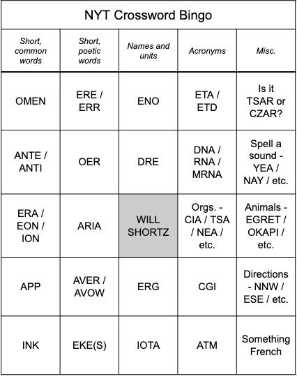 xwd bingo 1