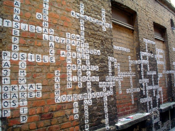 crossword street art