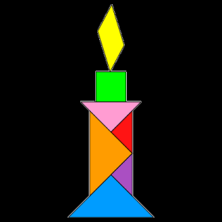 hpgg tangram candle smaller