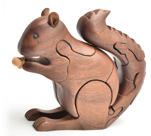 squirrel puzzle wood